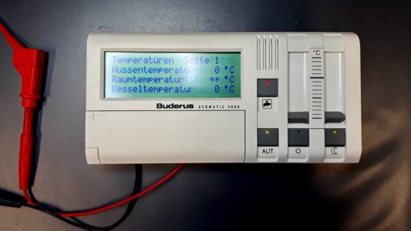 Buderus Ecomatic 4000 - Nach Reparatur - Buderus Ecomatic 4000 - Display Fehler