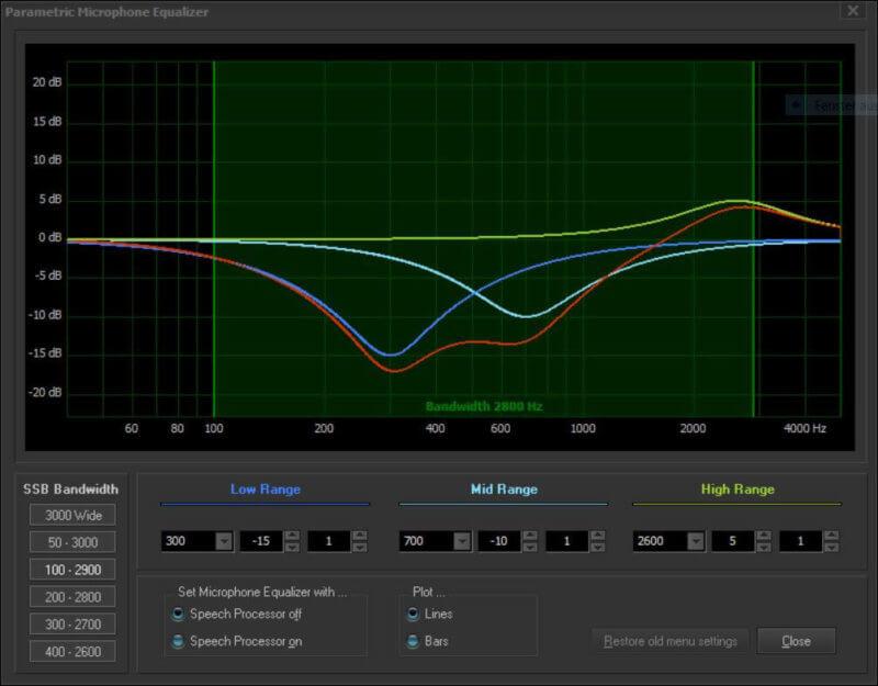 YAESU TX Audio Equalizer