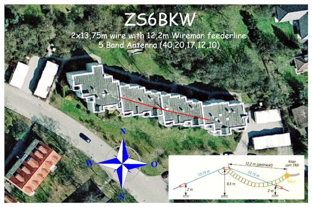 ZS6BKW - Wunderantenne für 5 Bänder ohne Traps